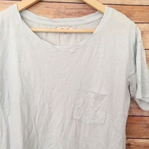 Madewell soft blue basic tee